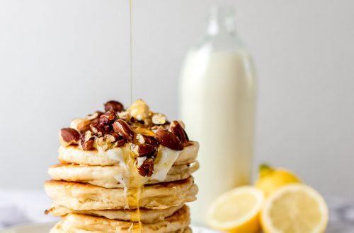 pancakes met griekse yoghurt