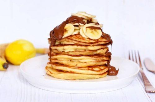 american pancakes met nutella en banaan