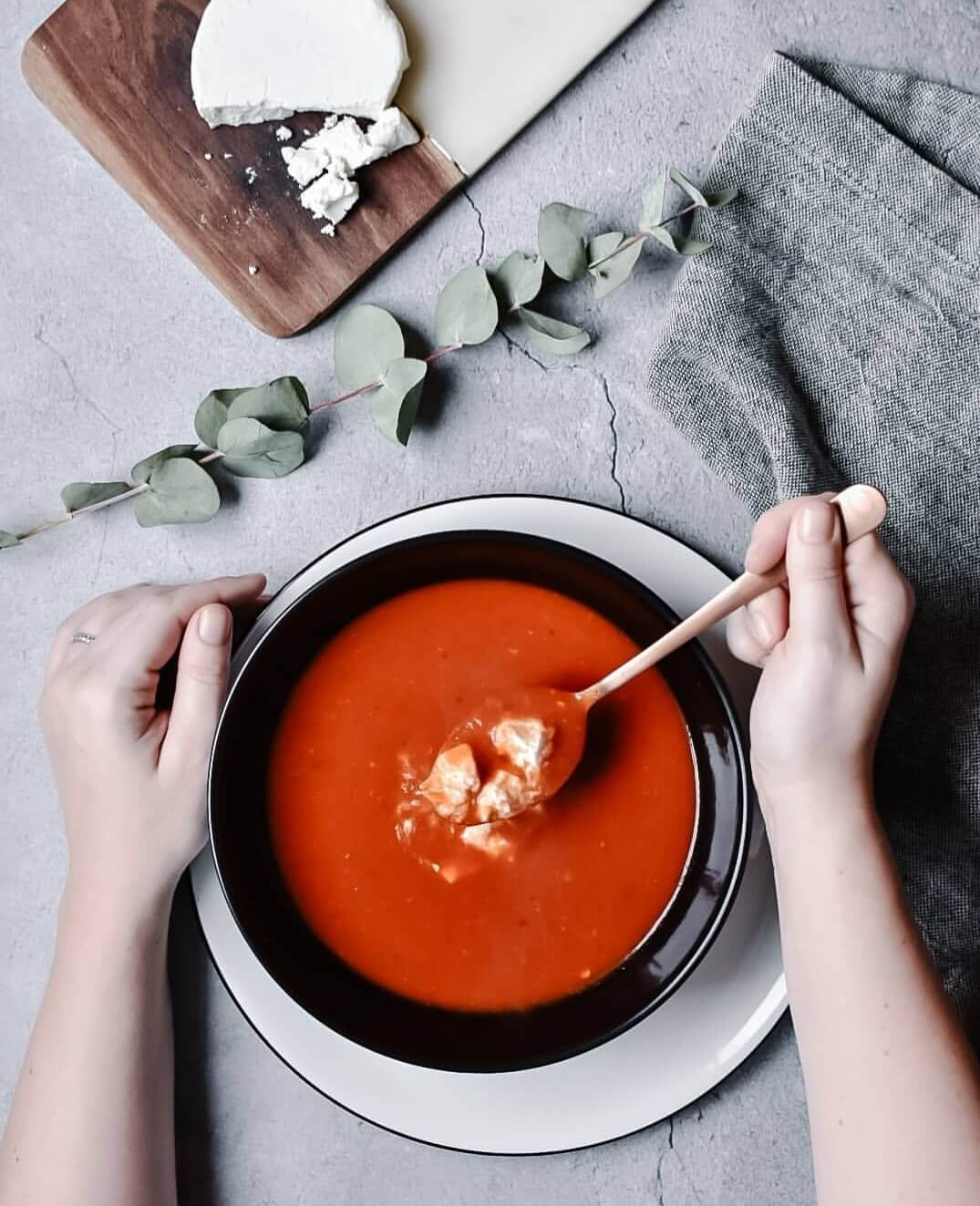 pittige paprika soep