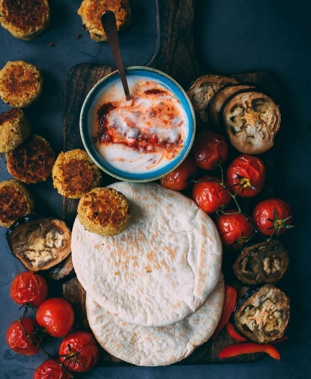 falafel met een pittige saus