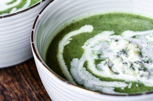 courgette soep met gorgonzola