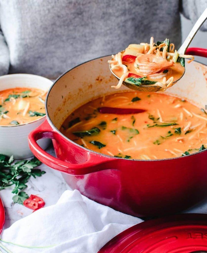 currysoep met gamba's