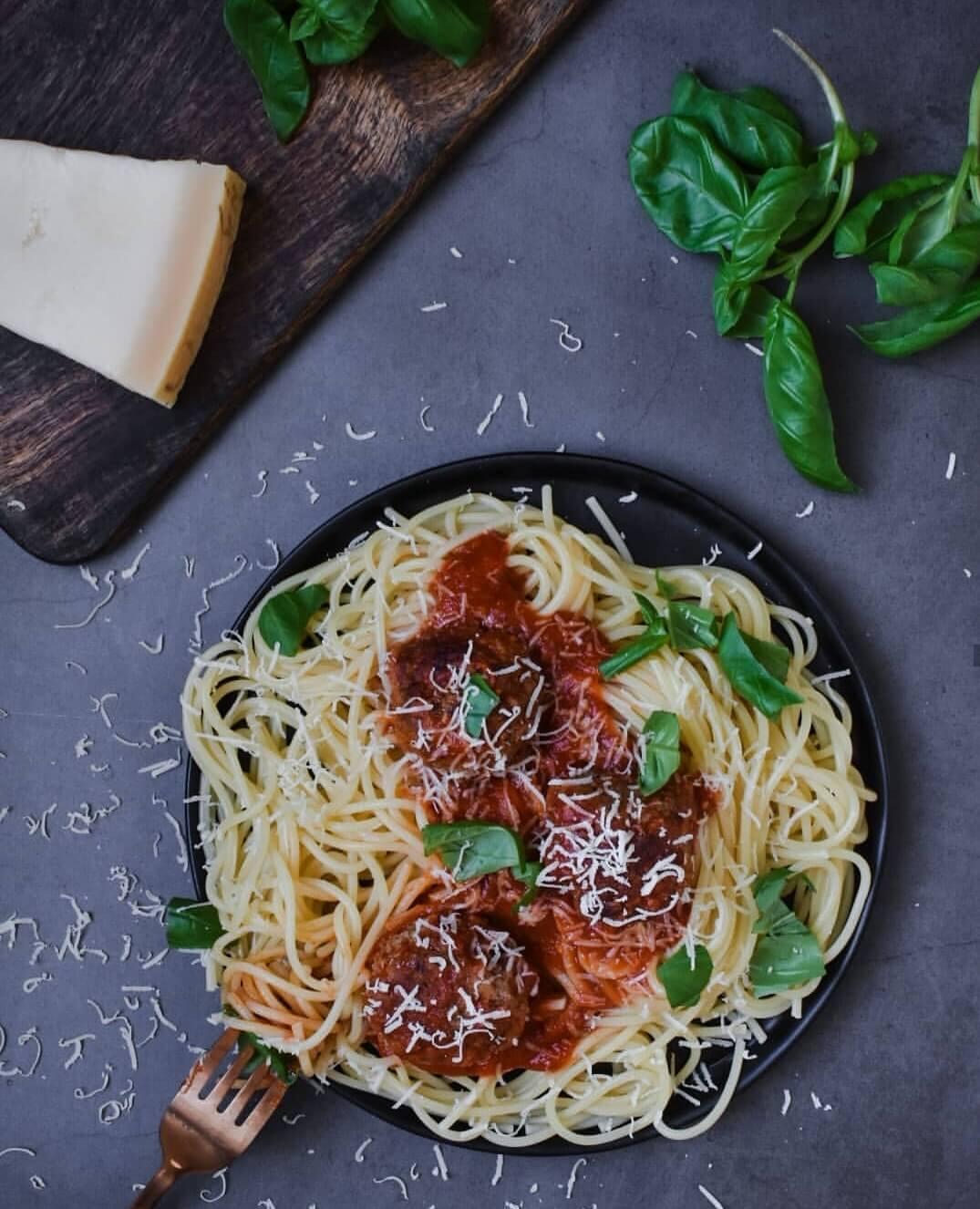 spaghetti met gehaktballen