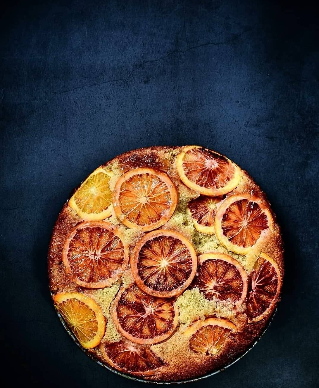 upside down sinaasappelcake