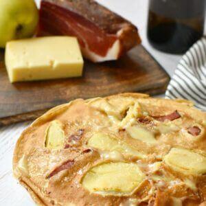 pannenkoeken met kaas en spek