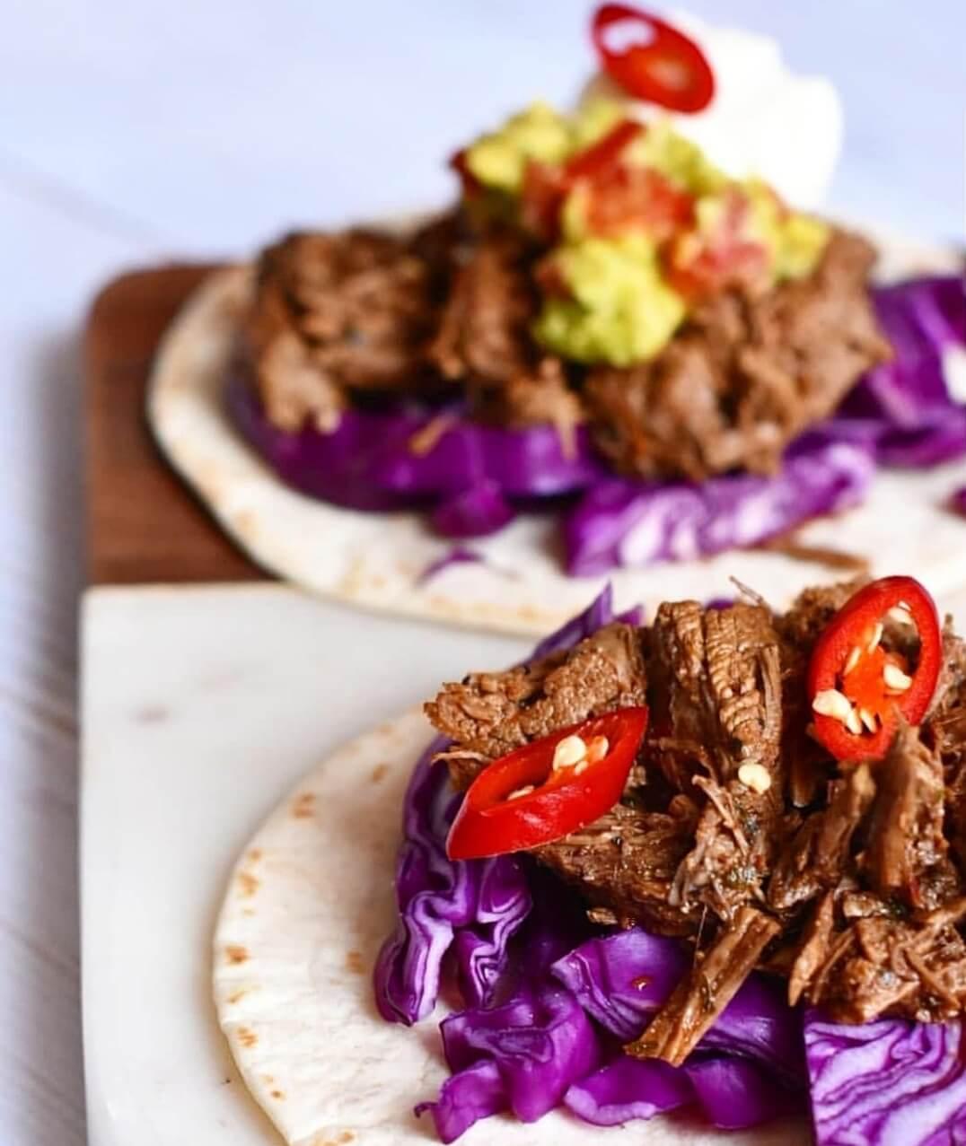 taco's met stoofvlees