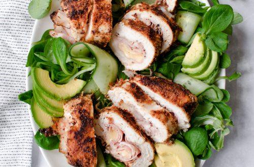salade met een cordon bleu