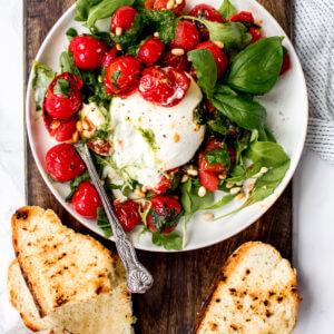 caprese salade met burrata