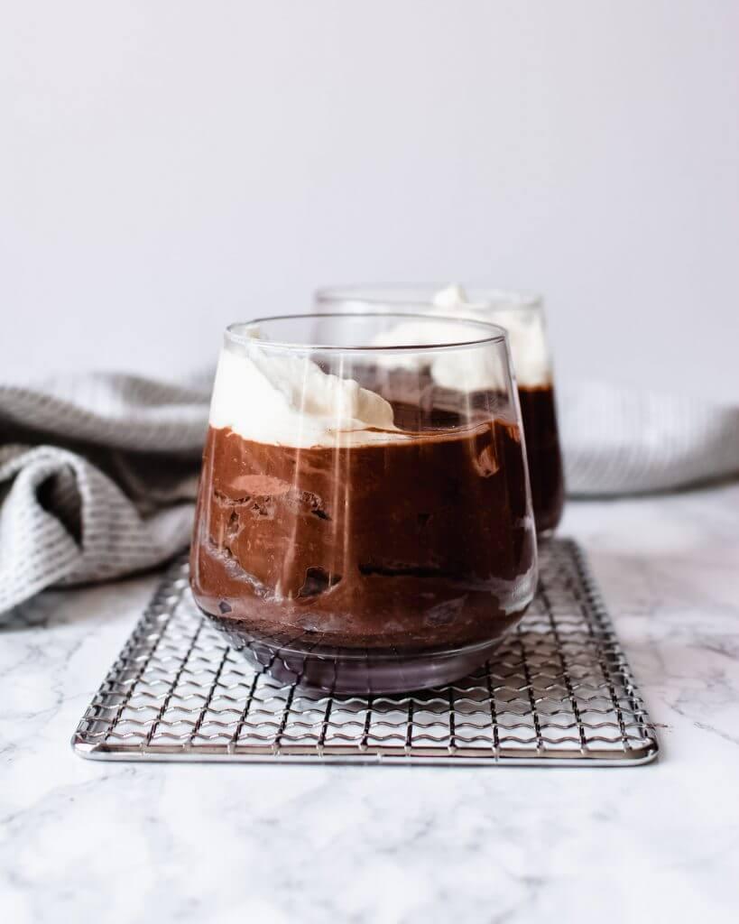 koolhydraatarme chocolade mousse
