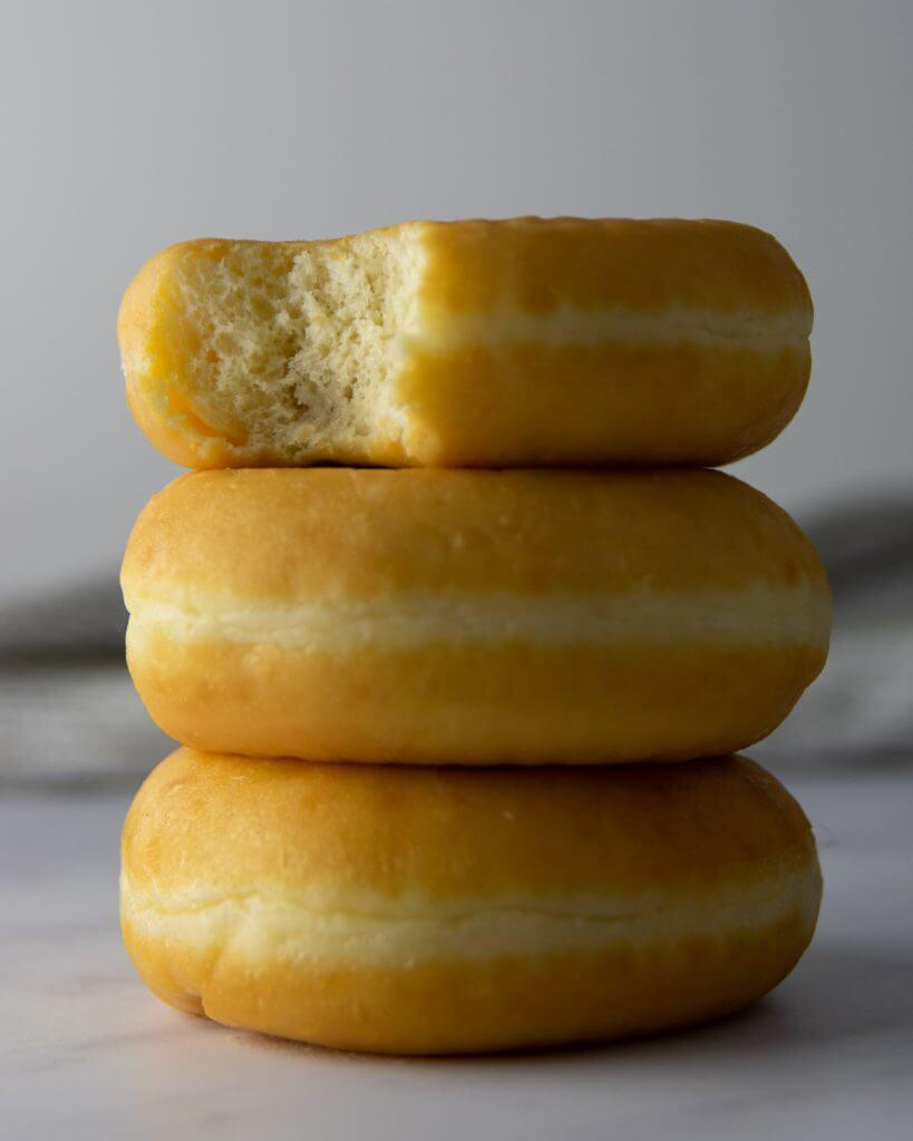 donut gemaakt met lamp