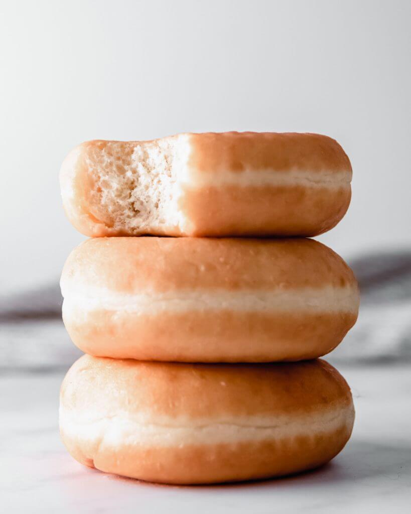 donut foto gemaakt met lamp