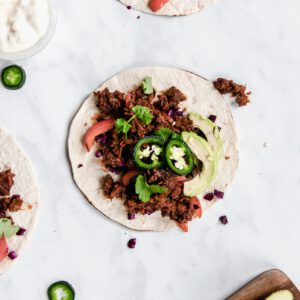taco met pulled oats