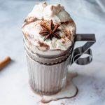 Warme chocola demelk