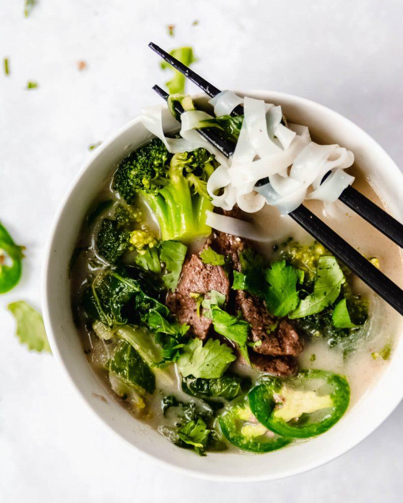 groene curry soep