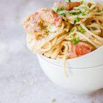 spaghetti garnalen bisque