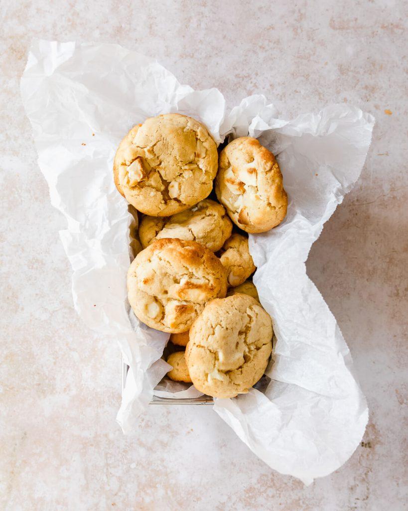 witte choco cookies