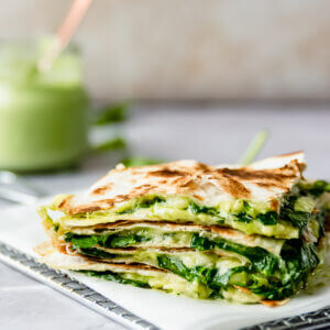 green goddess quesadilla