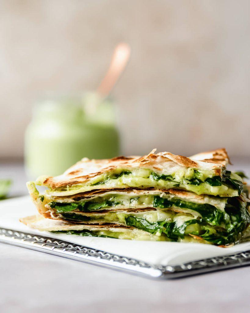 green goddess quesadilla