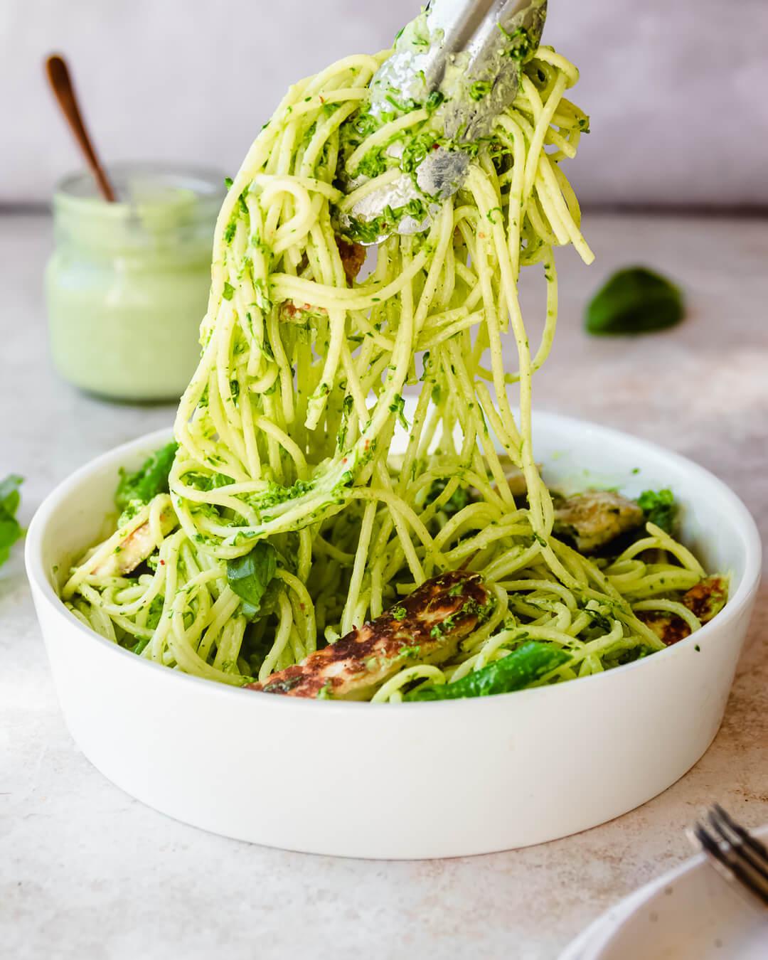 green goddess spaghetti