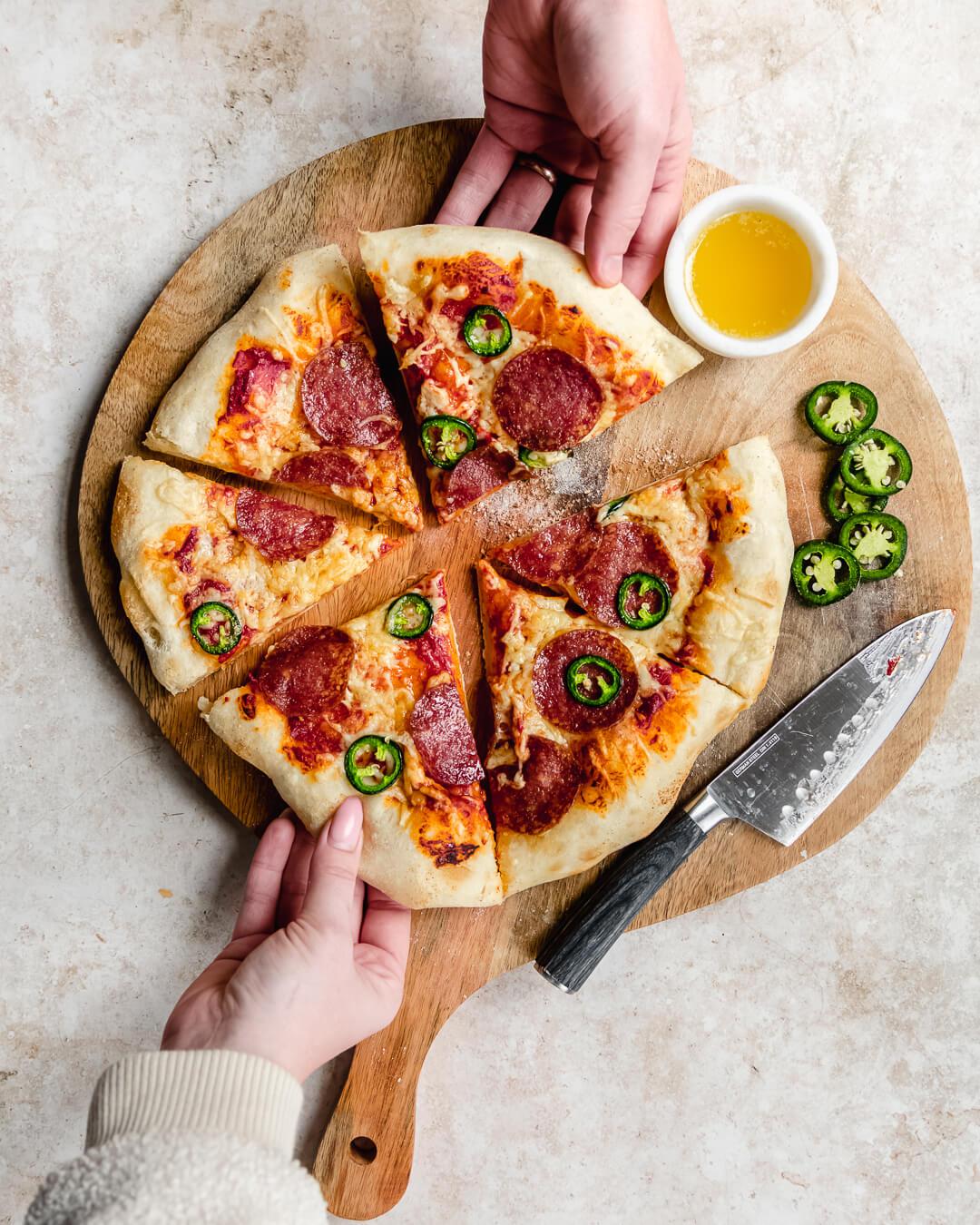 American hot pizza zuurdesem