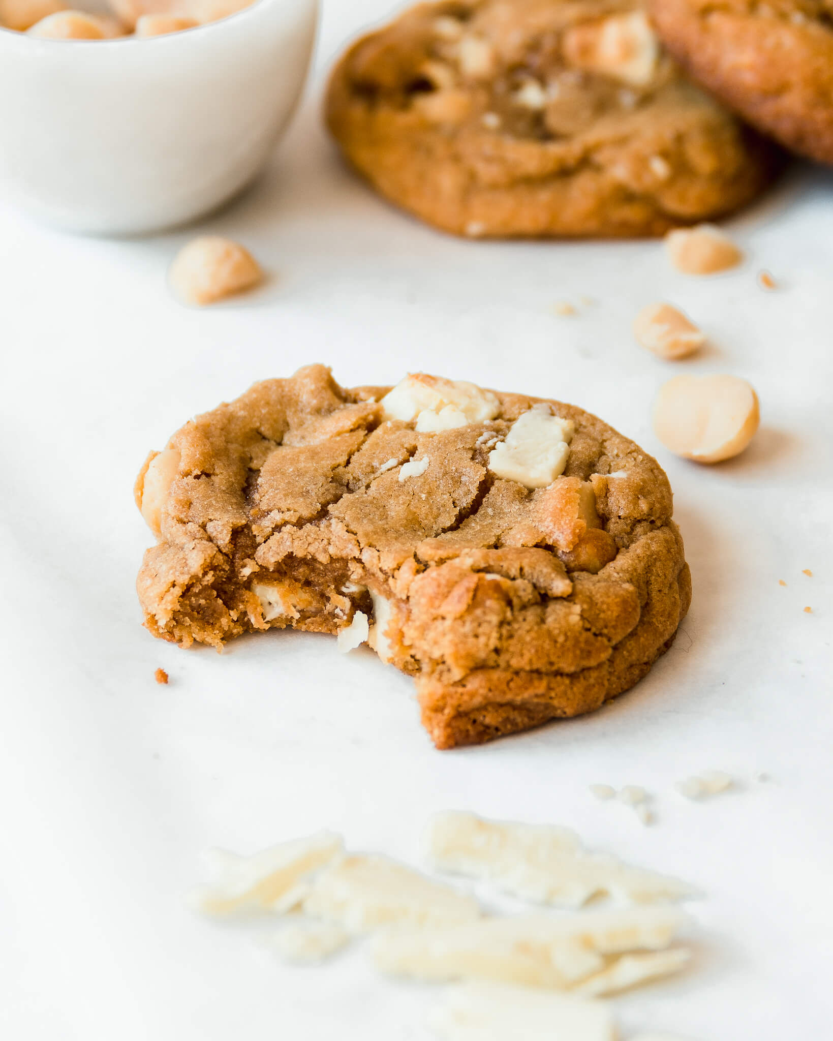 witte chocolade macadamia cookie