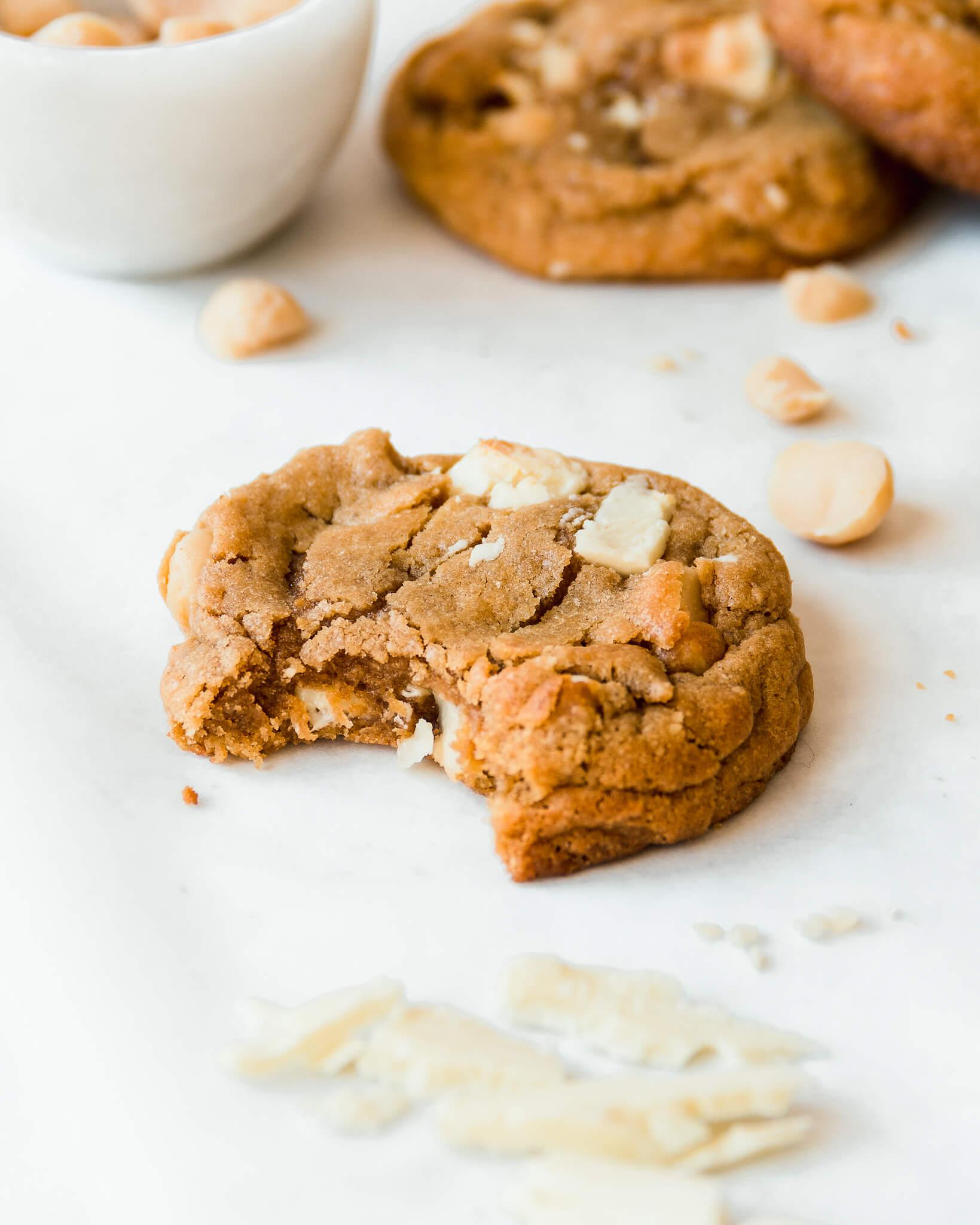 witte chocolade macadamia cookie