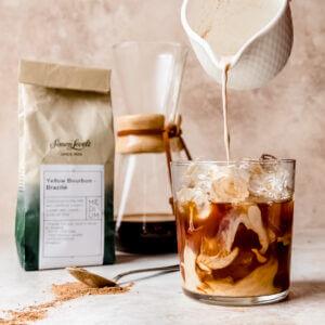 Dirty Chai iced latte