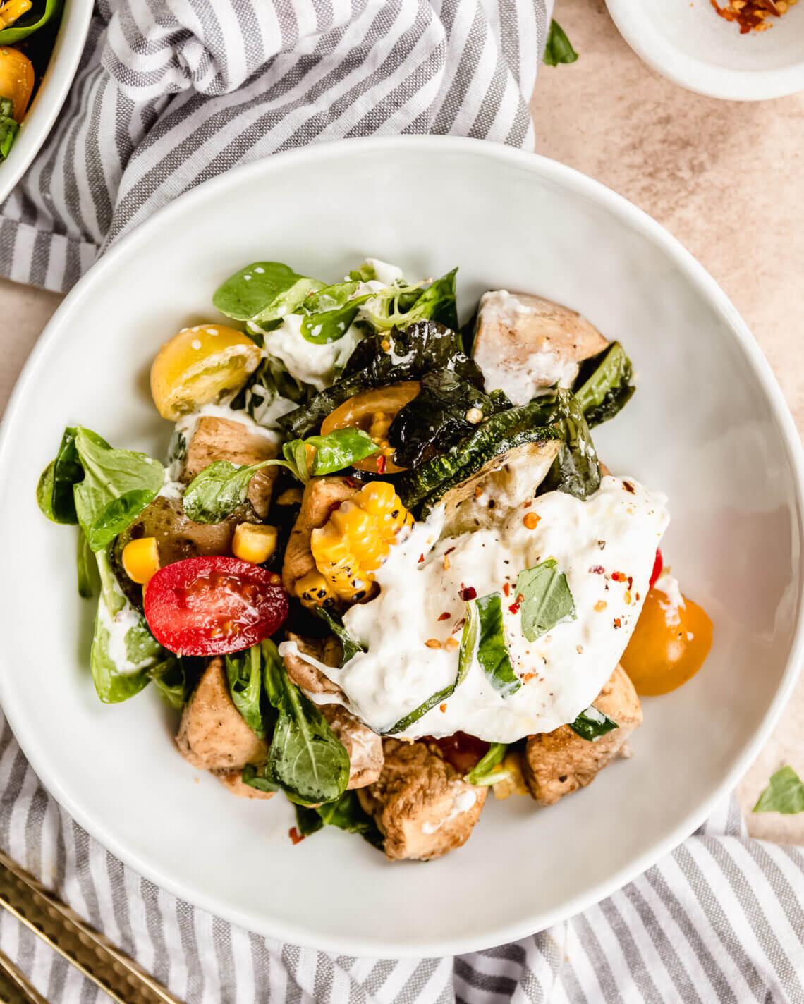 salade met burrata