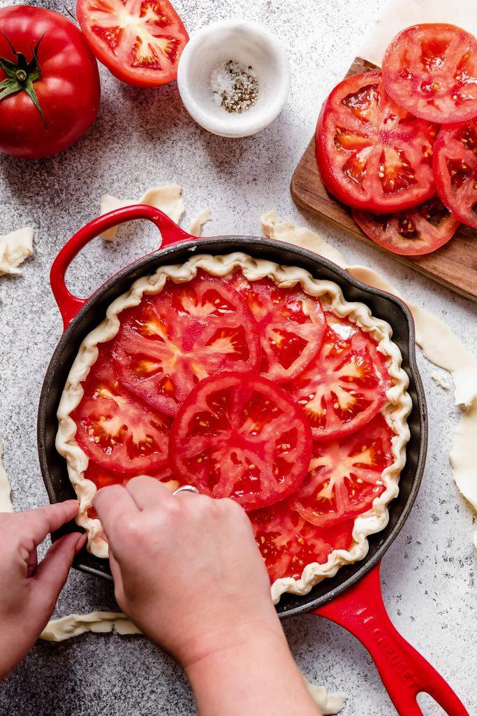 Quiche met tomaat en geitenkaas