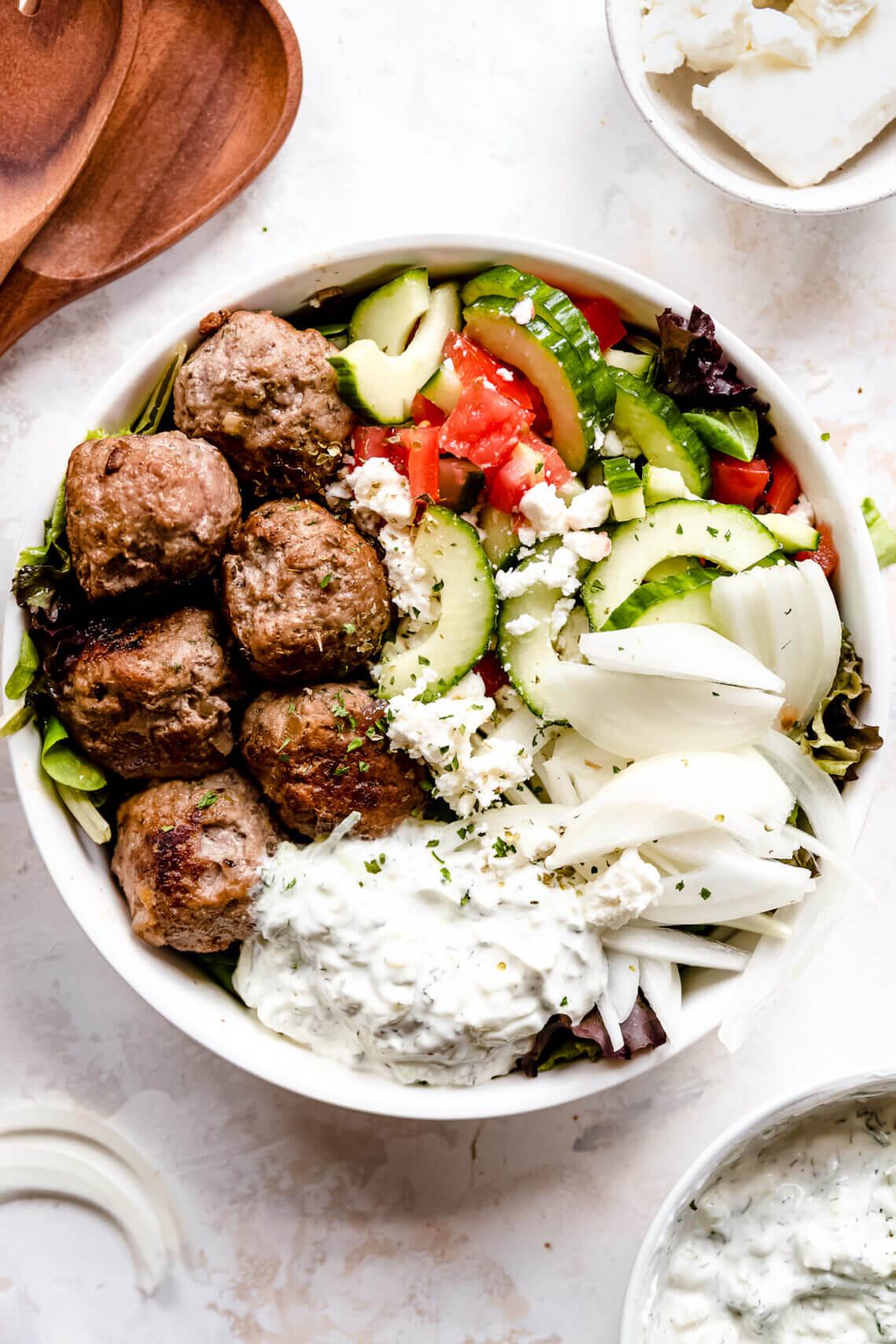 bifteki salade