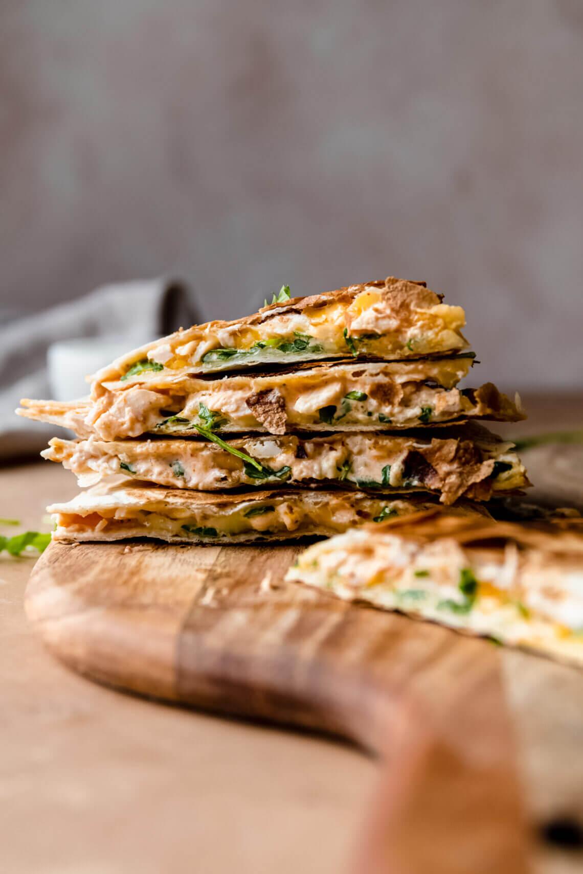 Quesadilla met pittige kip