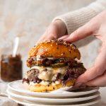 cheeseburger met bacon- uienjam