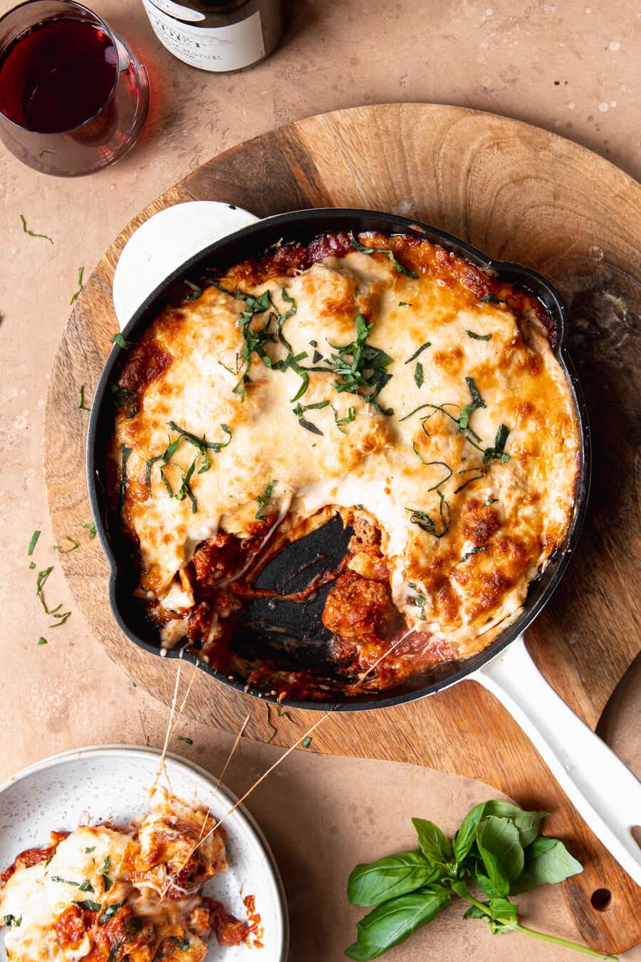 lasagne met gehaktballen