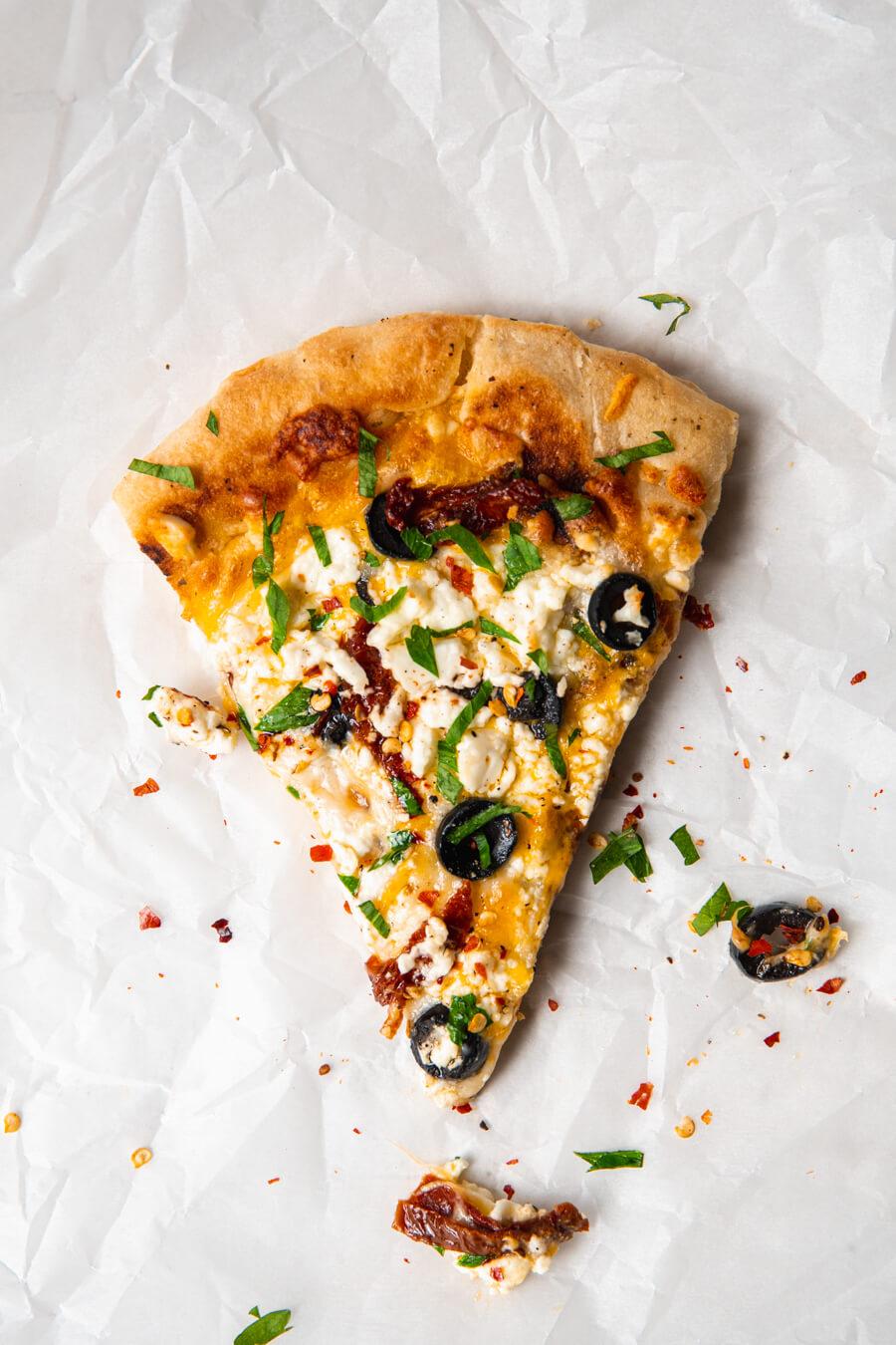 Griekse pita pizza