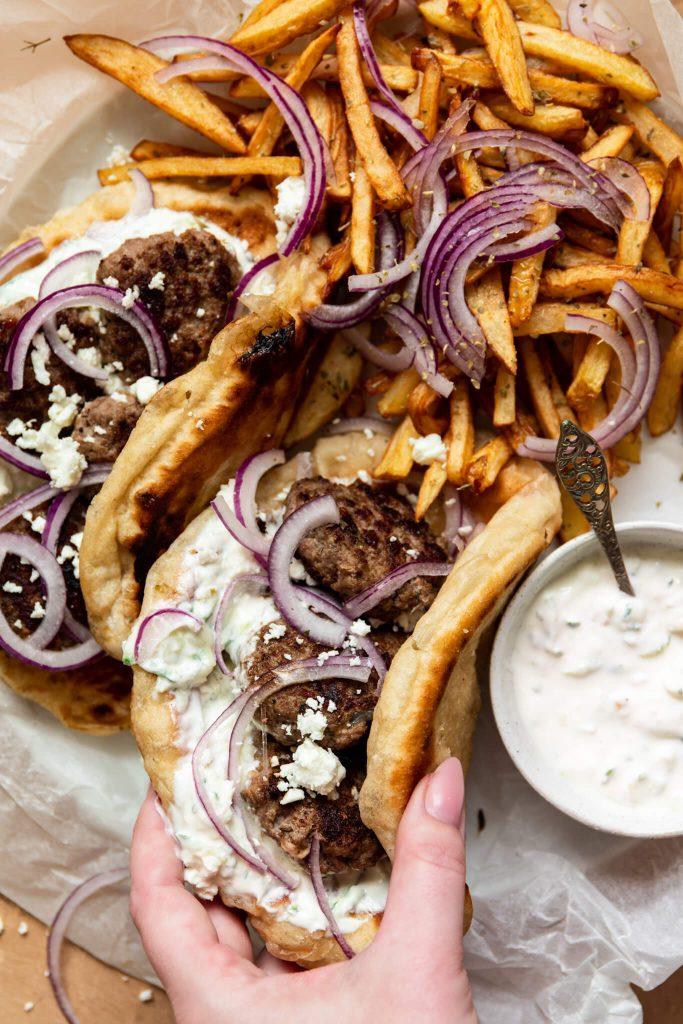 Homemade gefrituurde friet